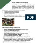 Importancia Del Comercio Del Desarrollo de Los Pueblos