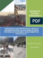 1. Informe Topográfico Losa Deportiva