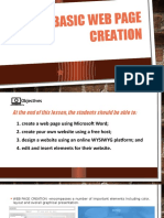 Lesson 8 Basic Web Page Creation