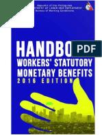 Filipino Workers Statutory Monetary Benefits 2016