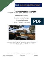 271 Swann Road - Pest Inspection