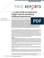 2018 the Value of Hip Circumference Heightx Ratio for Identifying Childhood Hypertension OK