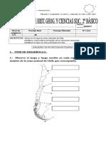 EVALUACION de Historia Zonas Naturales de Chile