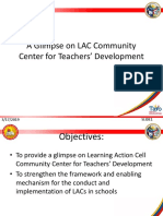 A GLimpse on LAC as School - Community Center for Teachers' Development