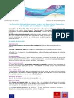 Communiqué de presse - Sept 2010 - Lancement de la 6ème édition des Rencontres etourisme