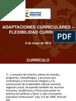 Adaptaciones - Flexibilidad Curricular