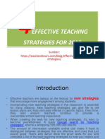 4 Effective Teaching Strategies for 2019