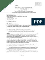 Buczek 20070506 International Promissory Note to Pay Court Hockey Game Case