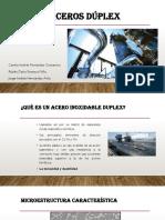 Clasificación de Los Aceros Duplex Según Los Elementos