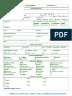 Ficha Anamnese Fisioterapia