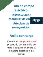 Campo Eléctrico Principio de Superposición(1)(1)
