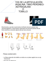 MOVIMIENTOS DE LA ARTICULACIÓN SUPRA-ASTRAGALINA, TIBIO-PERONEO-ASTRAGALINA.pptx