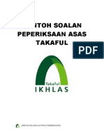 Takaful Sample Exam Questions