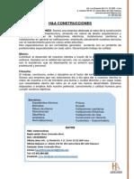 h&a Construcciones Cv - Brochure