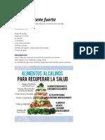 Alimentos Alcalinizantes y Acidos