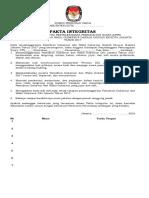 Pakta Integritas KPPS