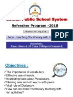 Refresher 2018 English Workshop