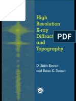High Resolution X-Ray Diffractometry and Topography 1998