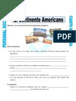 Ficha Continente Americano Para Cuarto de Primaria