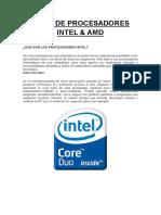 Intel&Amd-Procesadores