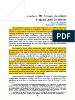 1966 - An Analysis Of Vendor Selection Systems And Decisions - Dickson.pdf