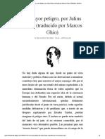 El mayor peligro, por Julius Evola (tra...por Marcos Ghio) | Biblioteca Evoliana