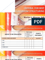 Criteria for Best Classroom Structuring