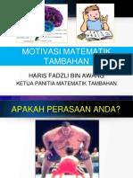 MOTIVASI MATEMATIK TAMBAHAN