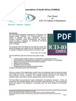 Fact Sheet ICD 10 Coding of Neoplasms April 2017