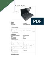 Lenovo 3000 data sheet