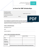 ISBF Scholarship Application Form 2018 Round 3
