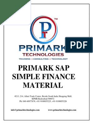 simple finance pdf | Sap Se | Business