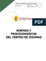 Reglamento Centro Idiomas UPCH 2017