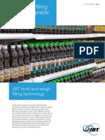 JBT White Paper Filling Glass and Plastic Bottles