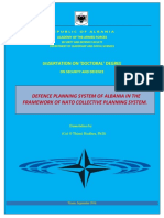 Thimi Hudhra - Defence Planning for new NATO countries - Case of Albania, Doctoral Thesis - English 2018