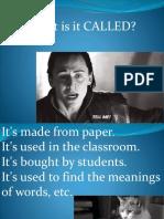 Passive Teach Describe