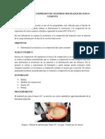 resistencia a la compresion de cilindros moldeados de suelo cemento