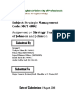 Strategy Evaluation of Johnson and Johnson