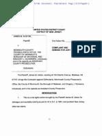 Alston complaint against county prosecutor