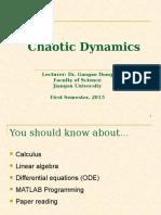 chaotic dynamics (presentation)