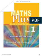 Maths Plus - A Book of Mental Mathematics for Class-1