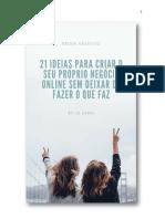 21 Dicas Para Criar o Seu Próprio Negócio Online
