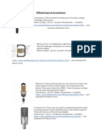 different type of microphones