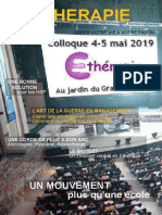 Colloque DEtherapie 2019 Hors Serie