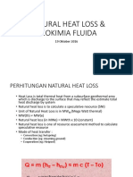 Natural Heat Loss & Geokimia Fluida