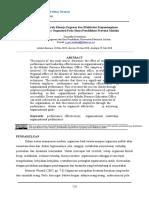 Analisis Pengaruh Kinerja Pegawai Dan Efektivitas