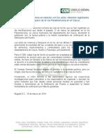 Consejo Gremial rechaza bloqueo de la vía Panamericana