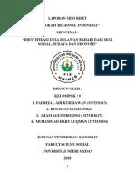 MINI RISET GEOGRAFI REGIONAL INDONESIA