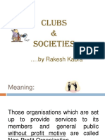 Accounting of Clubs & Societies