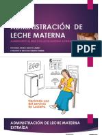 Administración de Leche Materna
